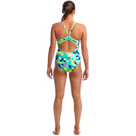 Funkita Diamond Back One Piece Badeanzug Damen sand storm